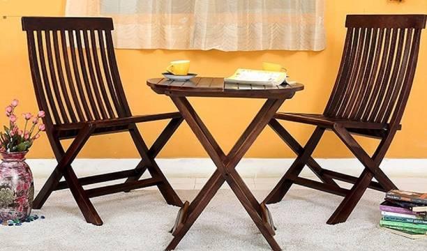 BrookWood Sheesham Folding Solid Wood 2 Seater Dining Set