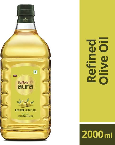 Saffola Aura Refined Olive Blended Oil Plastic Bottle