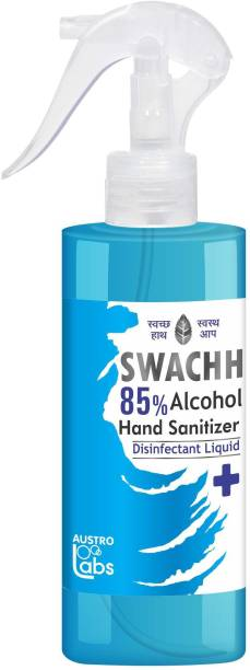 Austro Labs SWACHH 85 HAND SANITIZER SPRAY LIQUID - 230 ML Sanitizer Spray Pump Dispenser