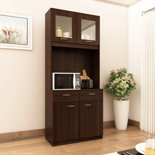 Crystal Furnitech Caelan Engineered Wood Crockery Cabinet