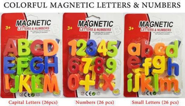 syarol Magnetic Alphabets And Numbers English Letters Leaning Toy For Kids- Multicolor