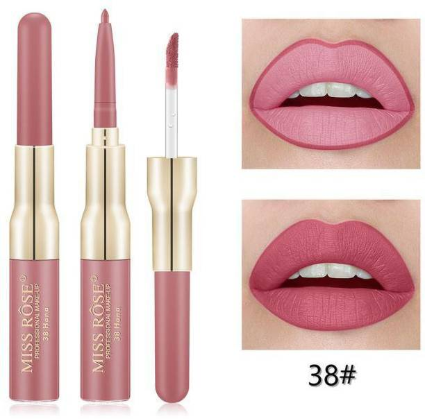 MISS ROSE Lip Gloss With lip liner