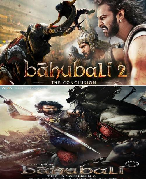 Baahubali: The Beginning & Baahubali 2: The Conclusion in Hindi (pack of 2) in HD print it's burn data dvd play only computer & laptop it's not original without poster