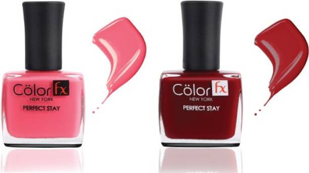 Color Fx Nail Enamel Perfect Stay - Basic Collection 121 & 122