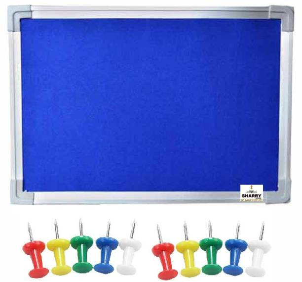 Sharry Notice or Bulletin Board or Soft or Pin-up board Green Nova 1.5' ft x 2' ft (10 board Pins) Notice Board