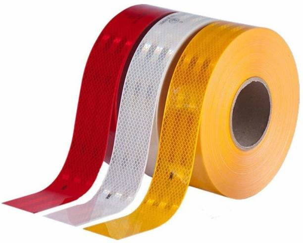 SAROHI Intensity Reflective Multi Colour Tape 50mmX1Meter 50 mm x 1 m Multicolor Reflective Tape