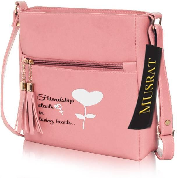 MUSRAT Pink Sling Bag