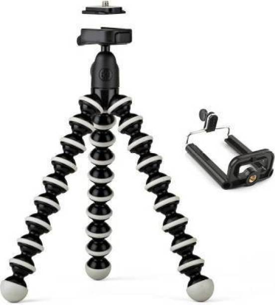 """Trust You new arrival fully flexible Portable & Foldable Camera & Mobile Tripod with Mobile Clip Holder Bracket Fully Flexible Mount Cum Tripod Stand with Three-Dimensional Head & Quick Release T2 Plate Gorilla Tripod 10"""" - DSLR , Smartphone & Action Cameras mobile holder Octopus Stand/mobile Holder Gorillapod Tripod Kit Tripod Kit"""