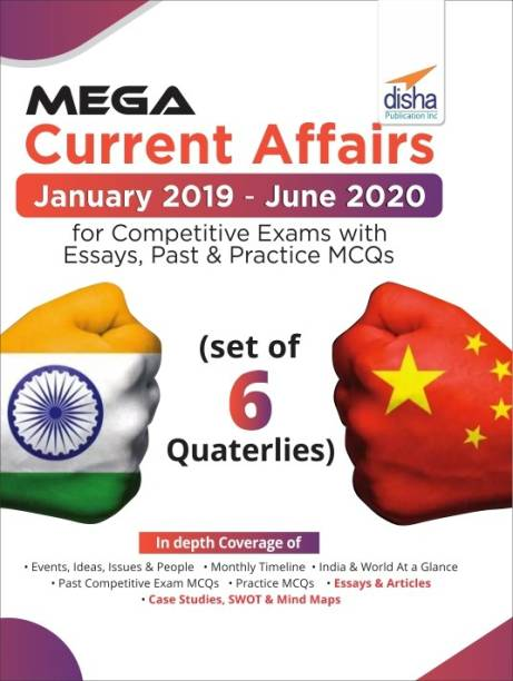 Mega Current Affairs Combo January 2019 to June 2020 for Competitive Exams with Essays, Past & Practice MCQs (set of 6 Quaterlies)
