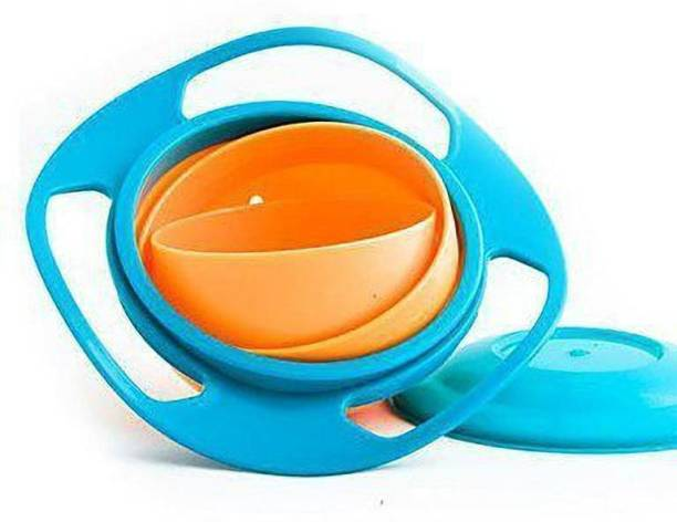 Shree Enterprise Non Spill Feeding Toddler Gyro Bowl 360 Rotate Dishes for Baby Food(Multi Color)