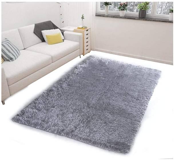RM Handloom Grey Polyester Carpet