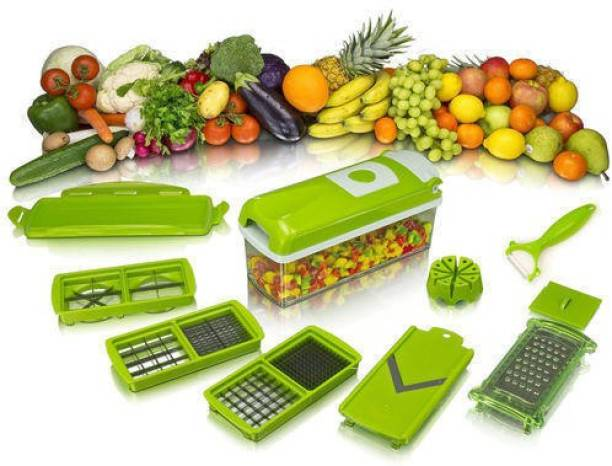 KARKAR ENTERPRISE NICER DICER 12 IN 1 MULTI USE VEGETABLE AND FRUITS CHOPPER Vegetable & Fruit Slicer
