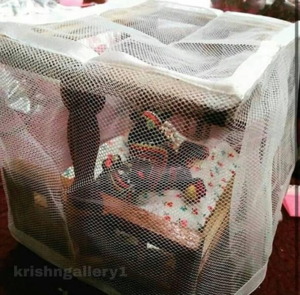 krishnagallery1 Laddu Gopal Mosquito Net Bed Wooden Quality 0 To 5 No, Size Laddu gopal , Laddu Gopal Dress , Laddu Gopal Sofa , Ladu Gopal Woolen Dress ( Sagwan Wooden Quality Net Bed ) Wooden Pooja Chowki