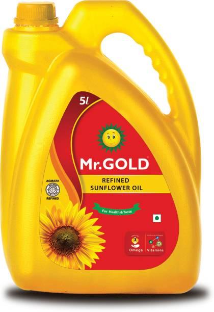 Mr. Gold Refined Sunflower Oil 5 Ltr Can Sunflower Oil Can