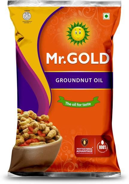 Mr. Gold Filtered Groundnut 1 Ltr Groundnut Oil Pouch