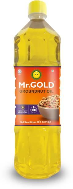 Mr. Gold Filtered Groundnut 1 Ltr Pet Groundnut Oil Plastic Bottle