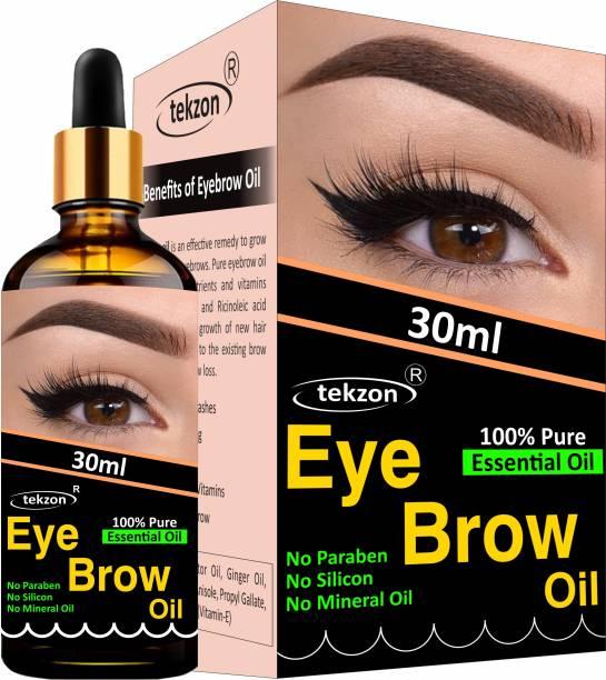 tekzon Eyebrow & Eyelash Growth Oil For Women - Strength with Pure Natural Ingredient 30 ml