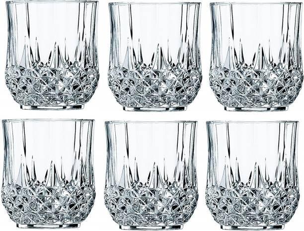 KITCHENQUEEN (Pack of 6) 1 350ml diamond glass 6 Glass Set