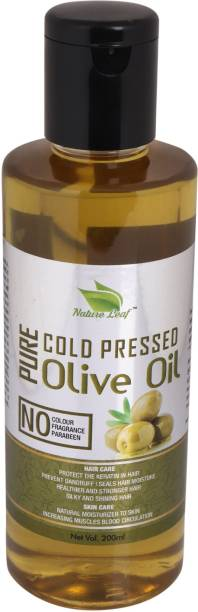 nature leaf Cold Press Pure Olive Oil 210 ml Hair Oil