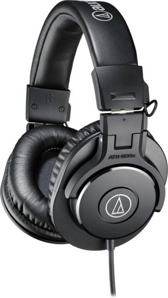 Audio Technica ATH-M30x Professional Monitor Headphones Wired without Mic Headset