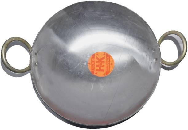 Super HK Branded Iron/loha/lokhand kadhai Medium Size 10 inc/1.80ltr Ideal for Cooking Frying with Large Handle Kadhai 25.4 cm diameter 1.8 L capacity