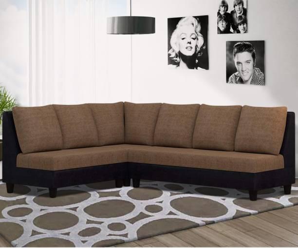 Woodcasa Dora L shape Corner Sofa Fabric 4 Seater  Sofa