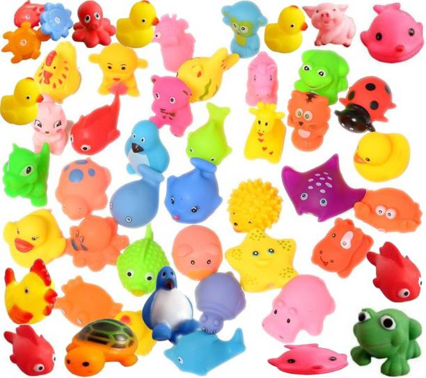 TechHark 12 Pcs New Born Baby Chu Chu Bath Toys With BPA Free Non-Toxic Bath Toy