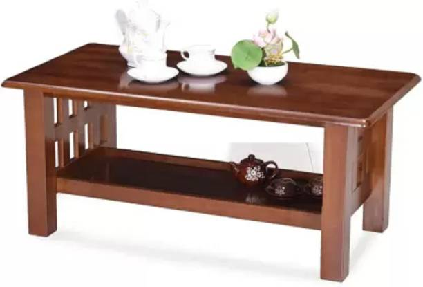 KendalWood Furniture Wooden Pre-assemble Center Table Solid Wood Coffee Table