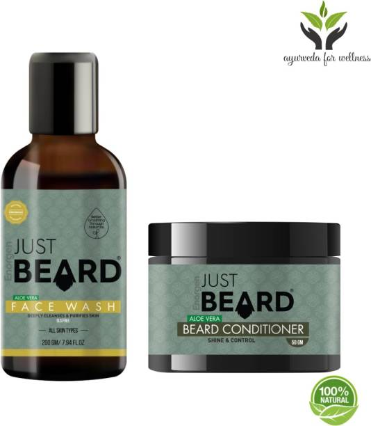 Enorgen JUSTBEARD 100% Natural Face,Beard and Mustache Care Kit For Men