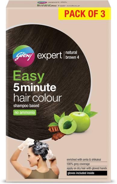 Godrej Expert Easy 5 Minute Hair Colour Sachet NATURAL BROWN , NATURAL BROWN