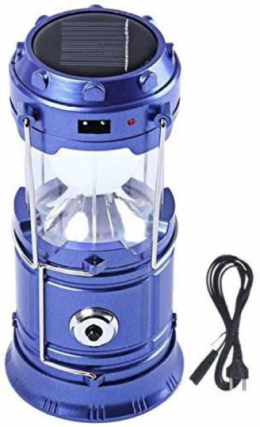 dhaval enterprise 6 LED Solar Emergency LED Light Lantern Multicolor Plastic Table Lantern
