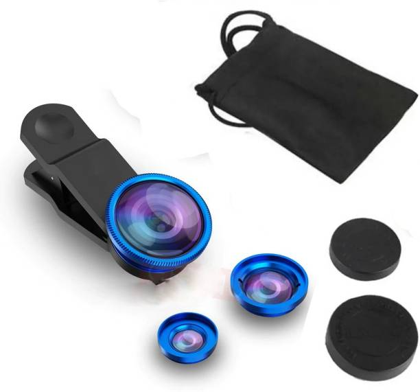 TECHOMANIA New Collection Good quality Universal Mobile Phone Camera Lens Ultra Wide Angle Macro HD Zoom-able Focus 0.67X Lens Kit Universal Clip Wide Angle + Macro + 180 Degree Fish Eyes Newest Mobile Phone Lens
