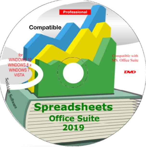 Compatible Spreadsheet Excel Office Suite 2019 Works Home Student and Business for Windows 10 8.1 8 7 Vista XP 32 64bit| Alternative to MicrosoftTM Office 2016 2013 2010 365 Compatibles Word Excel PowerPoint