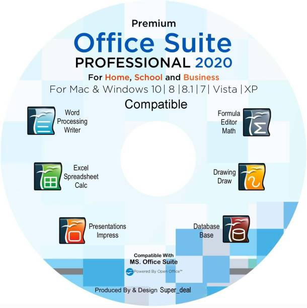 Compatible Office Suite 2020 Professional Edition CD DVD 100% compatibles with Microsoft Word and Excel for Windows 10-8-7-Vista-XP Mac OS X