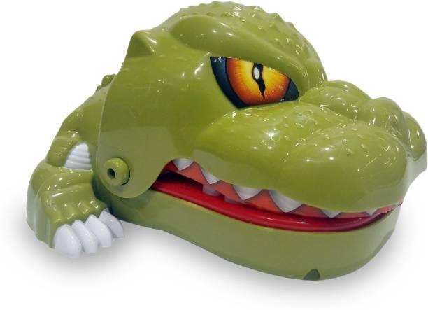 Miss & Chief Dinosaur Dentist - Dinosaur bite Finger Game for Kids, Green