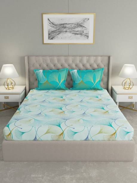 Raymond Home 144 TC Cotton Double Floral Bedsheet