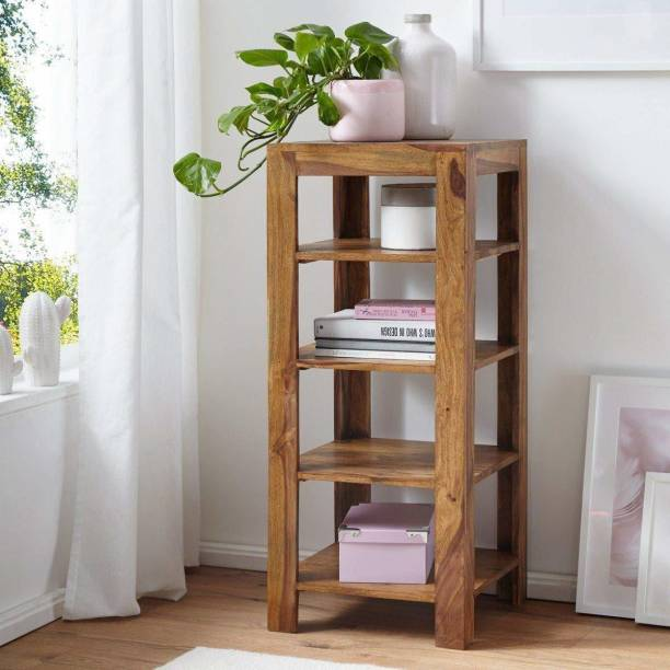 Modway Solid Wood Open Book Shelf