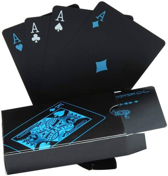 CHESHTA Black Good Quality Plastic Waterproof Colorful Deck Poker Playing Cards
