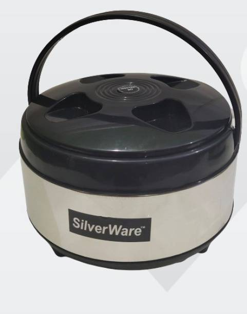 Silverware STAINLESS STEEL HOT MEAL CASSEROLE/ HOT POT FOR SERVING CHAPPATI, ROTI & RICE Serve Casserole