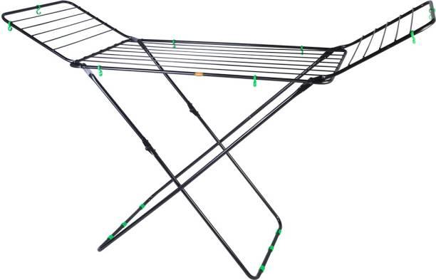 Deepakraj Steel Floor Cloth Dryer Stand DR501 Wire Cloth Stand Black
