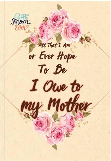 MasterMindMajesty My mother A5 Notebook Single Line 144 Pages