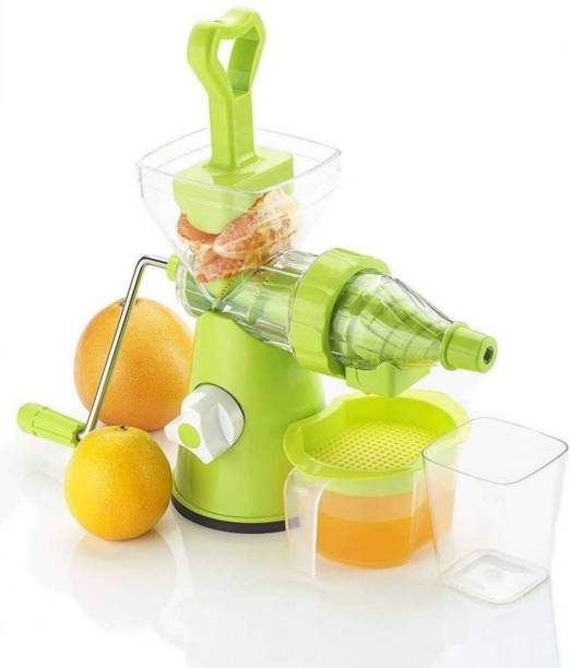 MYYNTI Plastic Hand Juicer Vegetable and Fruit Manual Master Juicer with Steel Handle Unbreakable Hand Juicer for Fruits and Vegetables with Steel Handle Vacuum Locking System, Juice Maker for Fruits,Juice Maker Machine, Travel Juicer for Fruits and Vegetables