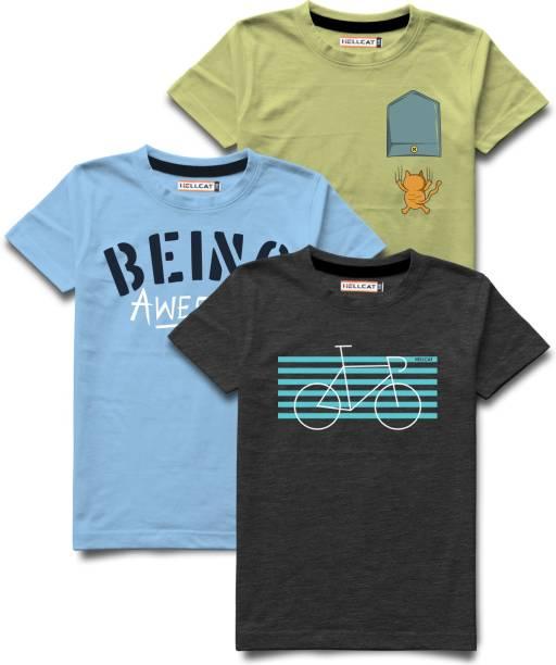 Hellcat Boys Printed Cotton Blend T Shirt