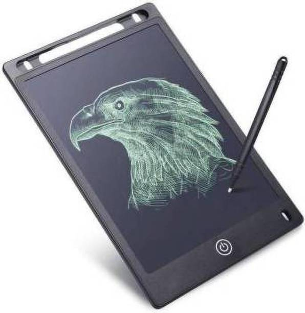 Radhe Expo Portable LCD Writing Board Slate Drawing Record Notes Digital Notepad with Pen Handwriting Pad Paperless Graphic Tablet (Black)