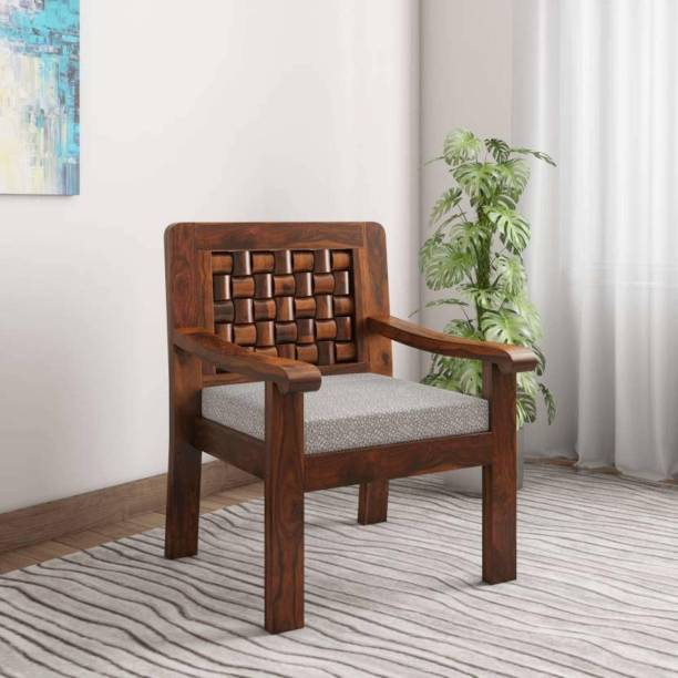 BrookWood Sheesham Armchair Furniture Solid Wood Living Room Chair