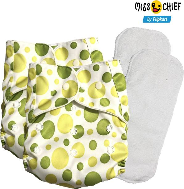 Miss & Chief Reusable Cloth Diaper with 1 Insert Circle (pack of 2)