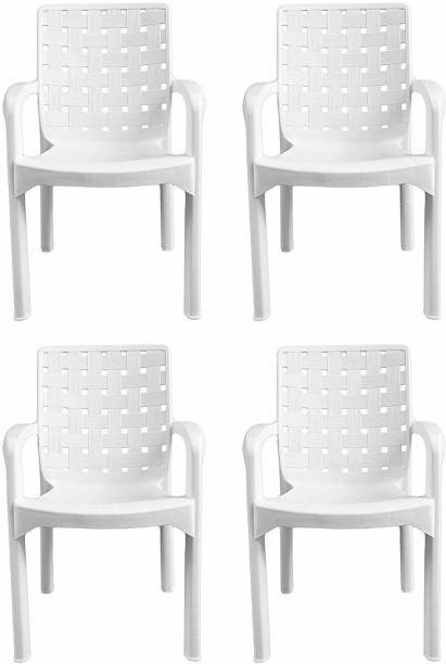 Binani Binani Italica 9402 Luxury Series Comfortable Plastic Chair for Home, Office and Garden Plastic Outdoor Chair