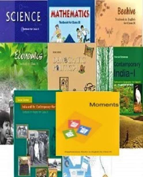 NCERT Books Set For Class 9 (English Medium) Set Of 8 Books Paperback 1 January 2019