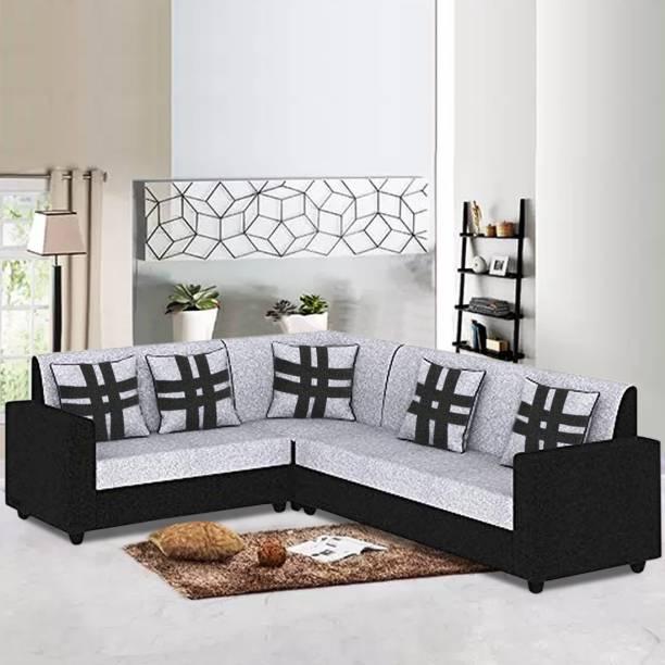 CasaStyle CasaLiven Lshape Corner Sofa Fabric 5 Seater  Sofa