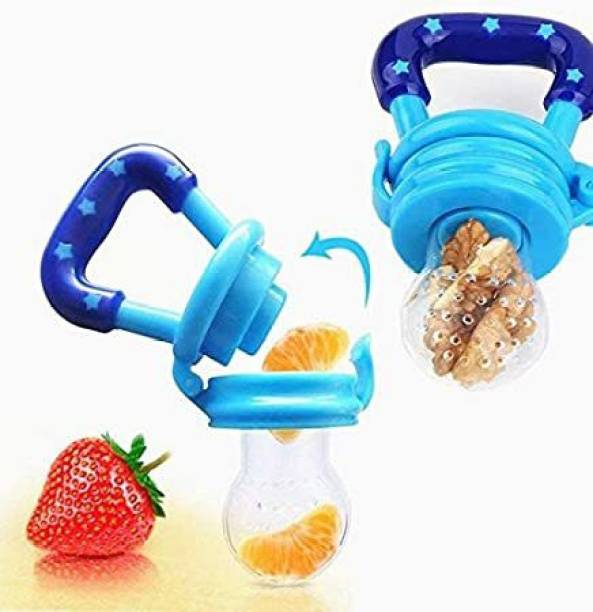 Akash Telecom dasji Kids 1 Pc Baby Pacifier Food Feeder Silicone Fresh Fruit Milk Nibbler Feeding Safe Kids Supplies Nipple Teat Pacifier Bottles - Multicolor Soother (Multicolor) Soother